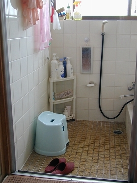 浴室出入り口手すり(before)