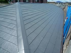 屋根塗装完了後02