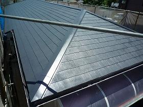 屋根塗装完了後01