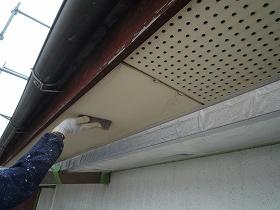 軒天井の下地調整