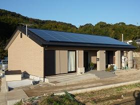太陽電池モジュールの設置後