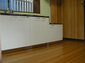 床貼替え、流し台取替えのアフター