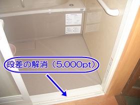 浴室の住宅エコポイント対象部位(段差解消)