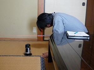 特定構造・防水検査(柱の傾斜の計測)