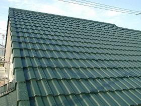屋根瓦塗装のアフター