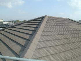 屋根瓦塗装のビフォー