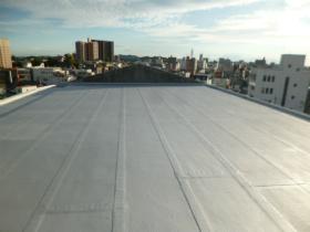 屋上防水工事(RC造陸屋根)の施工後