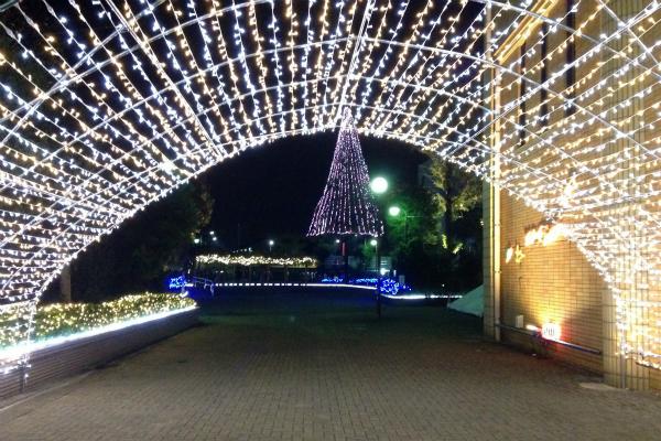大牟田駅前のイルミネーション01