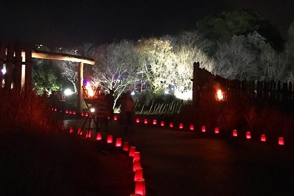 吉野ヶ里歴史公園ライトアップ-02