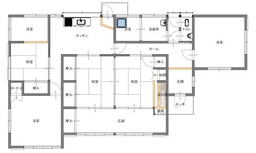 久福木・中古住宅の間取り図