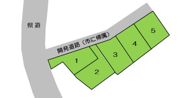 区画図(原山町分譲地)